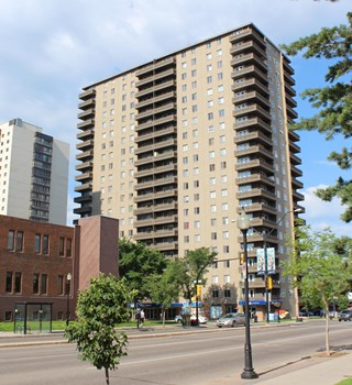 Exterior of Carlton Tower in Saskatoon