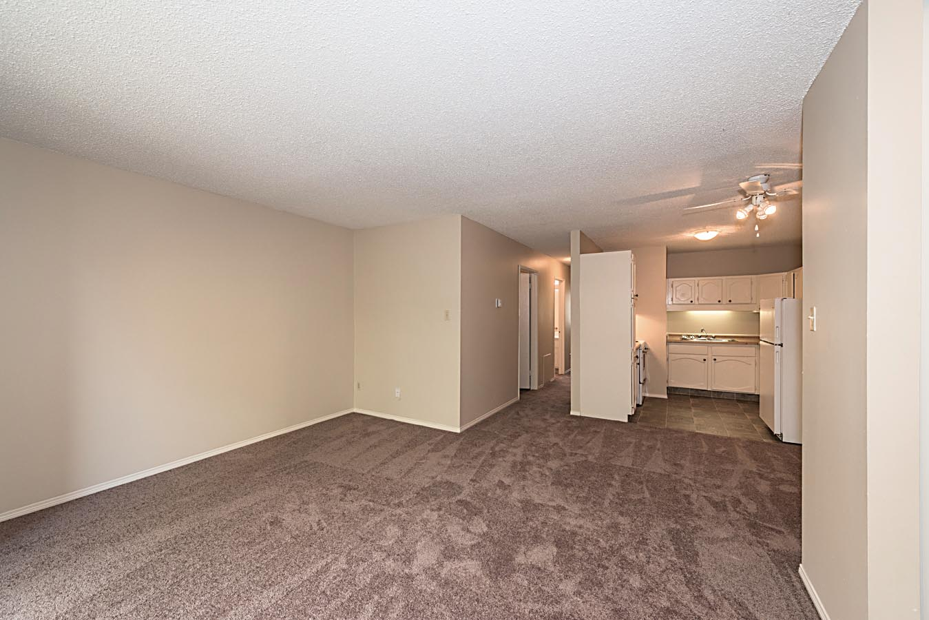 Living and Dining area in Cedarville Apartments