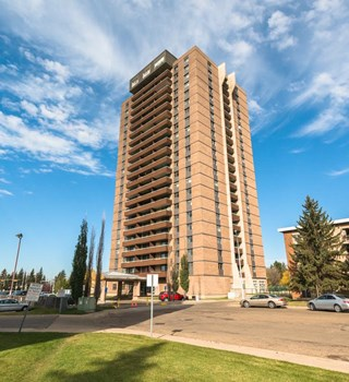 Exterior of Southgate Tower in Edmonton