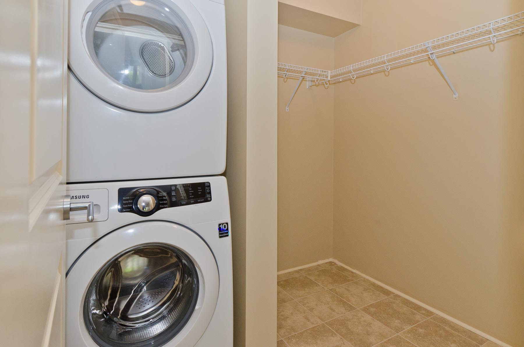Ensuite Laundry Machines at Spruce Ridge Gardens in Calgary