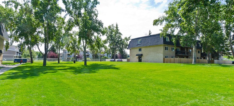 Exterior of Westwinds Village in Calgary
