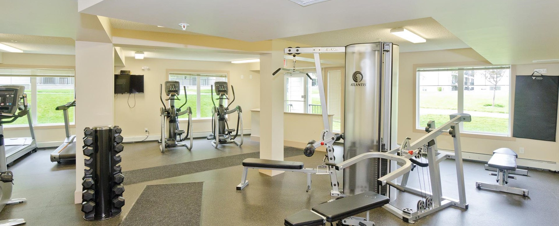 Fitness Centre at Spruce Ridge Gardens in Calgary
